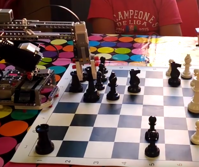 Robots jugando al ajedrez